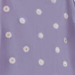 Kis virág mintás strasszköves lila női rövid ujjú póló
