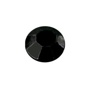 Fekete fém szegecs strassz hőre olvadó ragasztóbevonattal