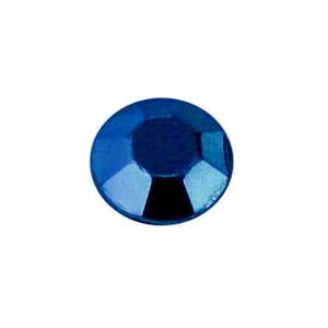 Metál fényű kék fém szegecs strassz hőre olvadó ragasztóbevonattal