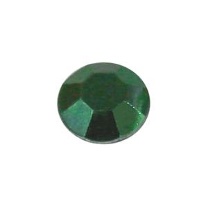 Zöld fém szegecs strassz hőre olvadó ragasztóbevonattal