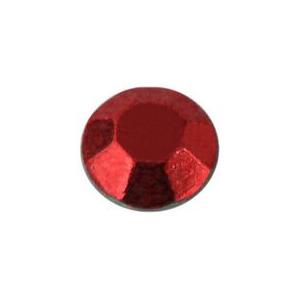 Piros fém szegecs strassz hőre olvadó ragasztóbevonattal