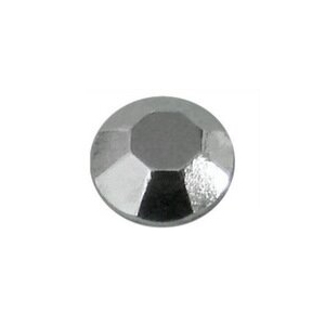 Ezüst fém szegecs strassz hőre olvadó ragasztóbevonattal