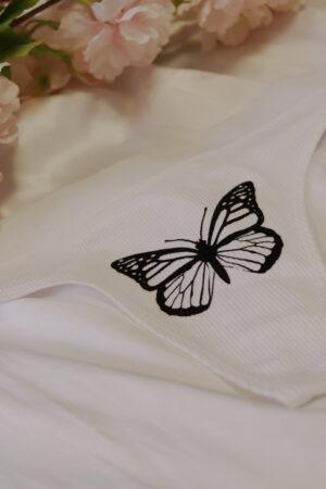 Transzferfóliából készült fehér bugyi